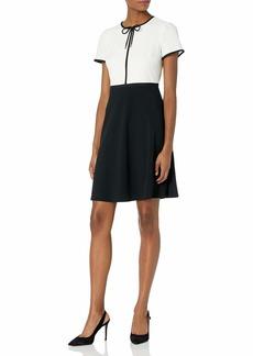 KARL LAGERFELD PARIS DRESSES Karl Lagerfeld Paris Women's Crepe A-Line Tie Neck Dress