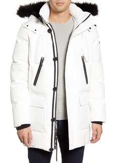 Karl Lagerfeld Paris Faux Fur Trim Down & Feather Quilted Parka