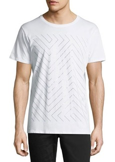 Karl Lagerfeld Paris Foil-Line Crewneck Graphic T-Shirt