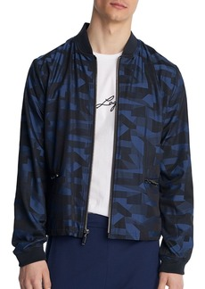 KARL LAGERFELD Paris Geometric-Print Bomber Jacket