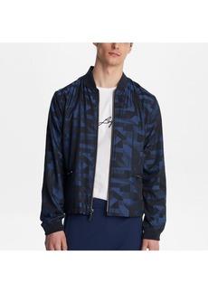 Karl Lagerfeld Paris Geometric Printed Bomber Jacket