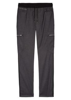 Karl Lagerfeld Paris Grosgrain Stripe Cargo Pants