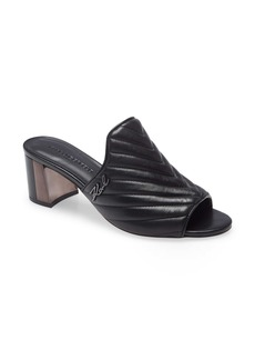 Karl Lagerfeld Paris Henley Quilted Slide Sandal (Women)