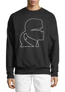 Karl Lagerfeld Paris Karl-Head Print Sweatshirt