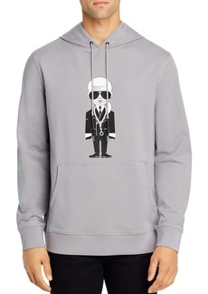 KARL LAGERFELD Paris Karl Necklace Hooded Sweatshirt