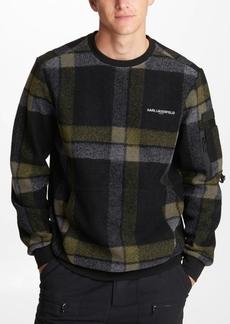 Karl Lagerfeld Paris Men's All Over Plaid Sweatshirt
