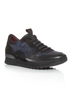 KARL LAGERFELD PARIS Men's Camo Suede Low-Top Sneakers