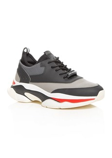 KARL LAGERFELD Paris Men's Color-Block Leather Low-Top Sneakers