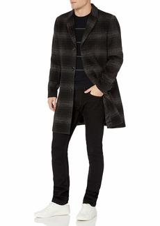 Karl Lagerfeld Paris Men's Large Plaid TOP Coat Multi-Colored XL