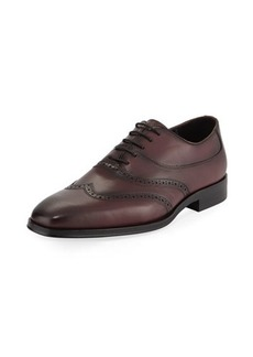 Karl Lagerfeld Paris Mixed Leather Wing-Tip Oxford