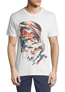 Karl Lagerfeld Paris Paint-Strokes Logo Graphic Tee