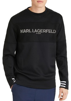 KARL LAGERFELD Paris Paneled Logo Graphic Sweatshirt