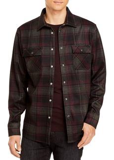 KARL LAGERFELD PARIS Plaid Slim Fit Snap Front Shirt