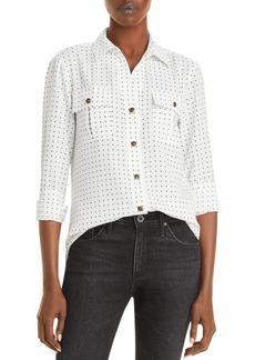 KARL LAGERFELD PARIS Polka Dot Print Button Down Shirt