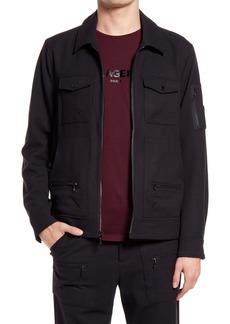 Karl Lagerfeld Paris Ponte Trucker Jacket