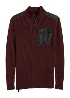 Karl Lagerfeld Paris Quarter Zip Sweater