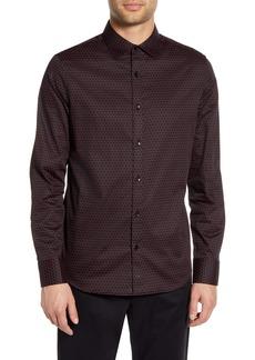 Karl Lagerfeld Paris Regular Fit Button-Up Shirt