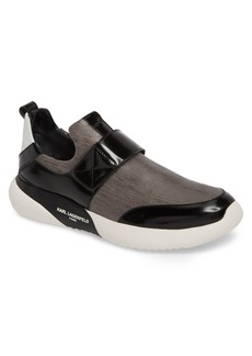 Karl Lagerfeld Paris Saffiano Textured Sneaker (Men)