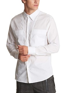 Karl Lagerfeld Paris Stretch Cotton Button-Up Shirt