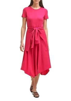 KARL LAGERFELD PARIS Tie Waist Dress
