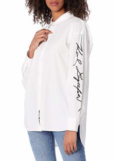Karl Lagerfeld Paris Women's Oversized Blouse  XL