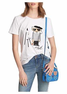 Karl Lagerfeld Paris Women's Picasso Karl Tshirt  M