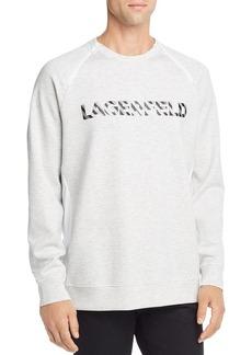 KARL LAGERFELD Paris Zip-Trimmed Logo Graphic Sweatshirt
