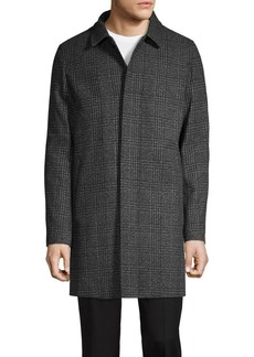 Karl Lagerfeld Paris Patterned-Print Coat