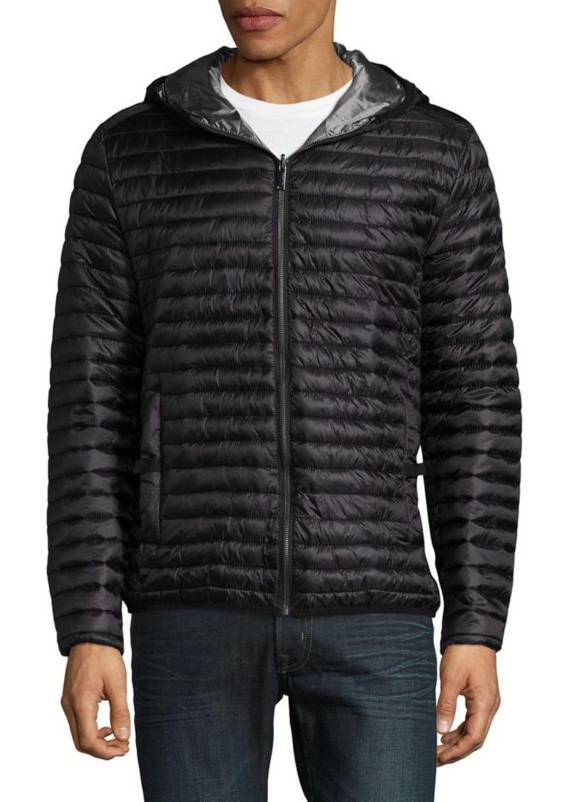 karl lagerfeld karl lagerfeld reversible puffer jacket outerwear shop it to me. Black Bedroom Furniture Sets. Home Design Ideas