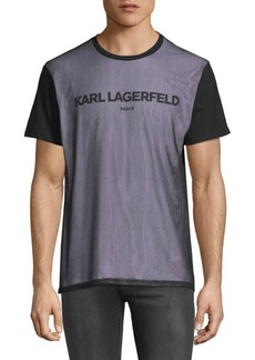 Karl Lagerfeld Short Sleeve Mesh T-Shirt