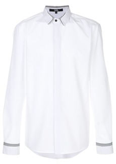 Karl Lagerfeld stripe detail poplin shirt - White