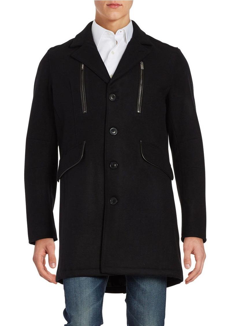 KARL LAGERFELD PARIS Wool-Blend Walker Coat