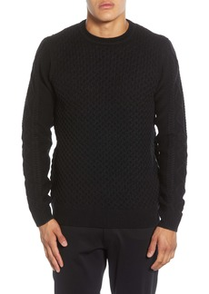 Karl Lagerfeld KARL LAGERFIELD PARIS Textured Side Zip Pullover Sweater