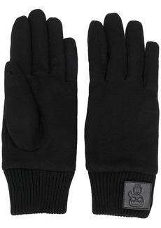 Karl Lagerfeld K/Ikonik logo patch gloves