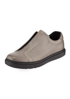 Karl Lagerfeld Men's Laceless Leather Slip-On Sneakers