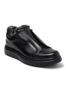 Karl Lagerfeld Leather & Faux Fur Laceless Sneaker