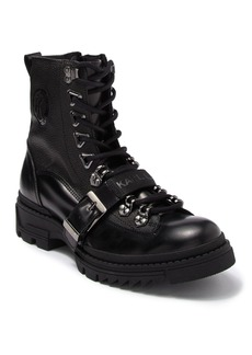 Karl Lagerfeld Leather Lace-Up Boot