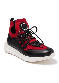 Karl Lagerfeld Leather Neoprene Logo Sneaker