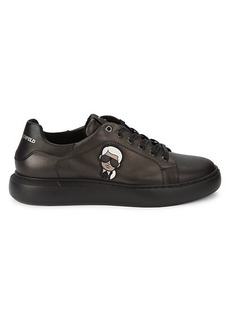 Karl Lagerfeld Leather Patch Graphic Sneakers