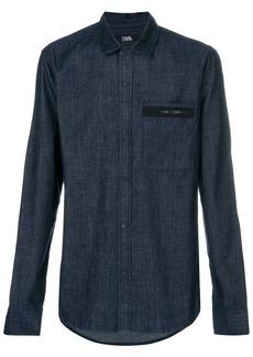 Karl Lagerfeld logo detail denim shirt