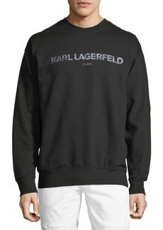 Karl Lagerfeld Logo Graphic Pullover Sweatshirt