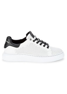 Karl Lagerfeld Logo Leather Sneakers