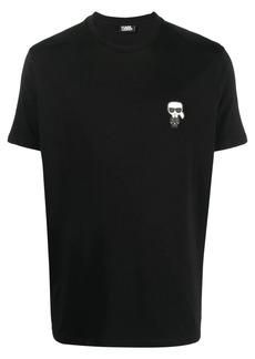 Karl Lagerfeld logo-patch cotton T-Shirt