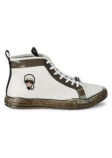 Karl Lagerfeld Logo Patch High-Top Runners
