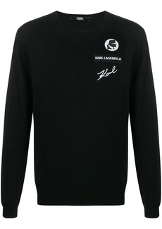 Karl Lagerfeld logo patch jumper