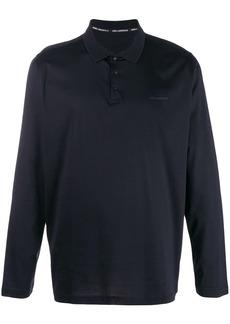 Karl Lagerfeld logo patch polo shirt