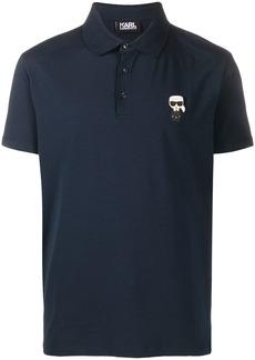 Karl Lagerfeld logo-patch short sleeved polo shirt