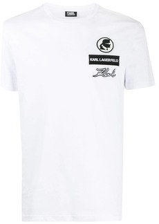 Karl Lagerfeld logo patch T-shirt