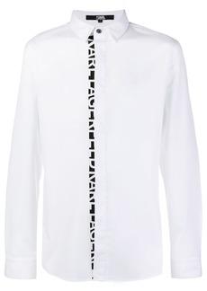 Karl Lagerfeld logo placket poplin shirt