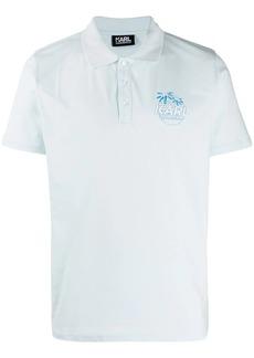 Karl Lagerfeld logo print polo shirt